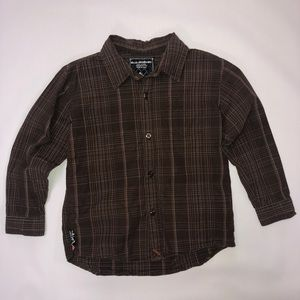 Quicksilver Brown Stripes Long Sleeve (M)